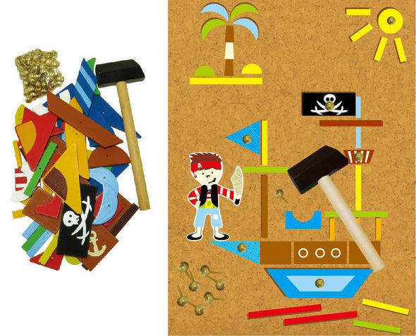 PIRATE TAP A SHAPE IN BOOKCASE, Build it, Eleganter, Little Toy Lane - Little Toy Lane