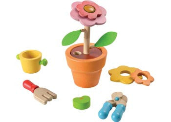PlanToys - Flower Set, Build it, Modern Brands, Little Toy Lane - Little Toy Lane