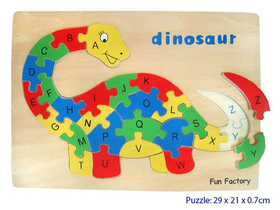 A-Z Dinosaur Puzzle, Puzzles, Fun Factory, Little Toy Lane - Little Toy Lane
