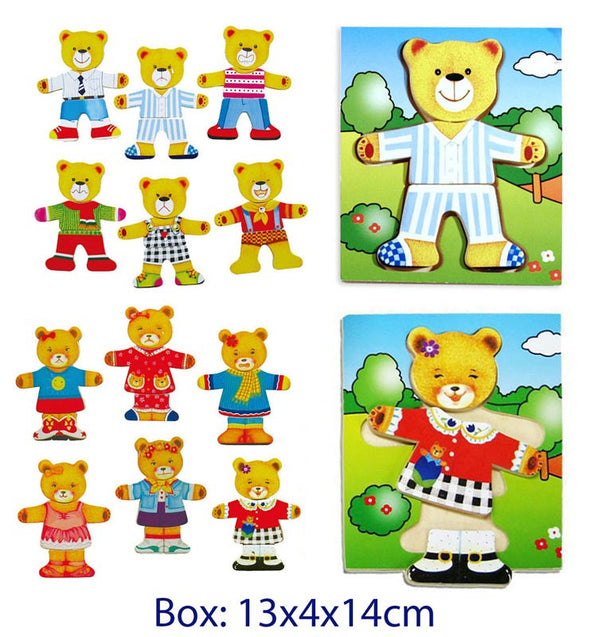 Dress me up Bear Puzzle, Puzzles, Fun Factory, Little Toy Lane - Little Toy Lane