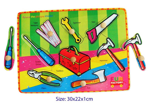 Puzzle with knobs- Tool, Puzzles, Eleganter, Little Toy Lane - Little Toy Lane