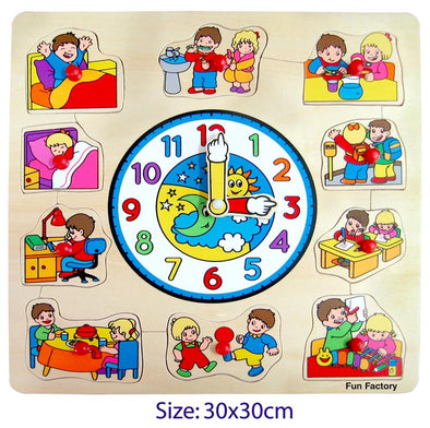 Puzzle Clock- Children, Puzzles, La Belle Toys, Little Toy Lane - Little Toy Lane