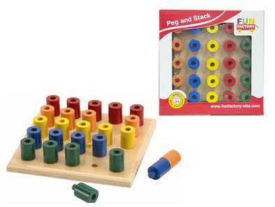 Peg & Stack Board, Learn & Explore, La Belle Toys, Little Toy Lane - Little Toy Lane
