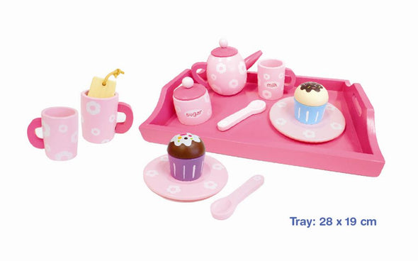 Tea Set with Tray, Learn & Expore, La Belle Toys, Little Toy Lane - Little Toy Lane