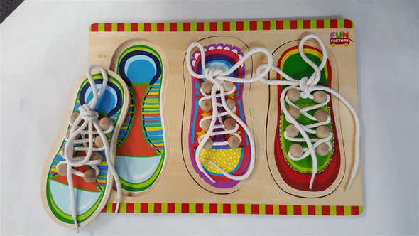 Lacing Shoe Puzzle, Puzzles, La Belle Toys, Little Toy Lane - Little Toy Lane