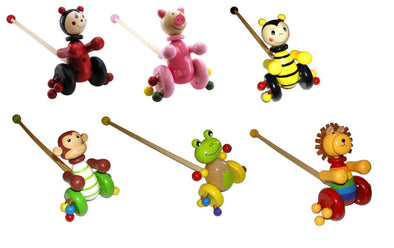 ANIMAL PUSH-A-LONG - assorted, Learn & Expore, Eleganter, Little Toy Lane - Little Toy Lane