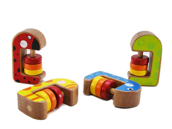 WOODEN ABACUS RATTLE, Educational Games, Eleganter, Little Toy Lane - Little Toy Lane