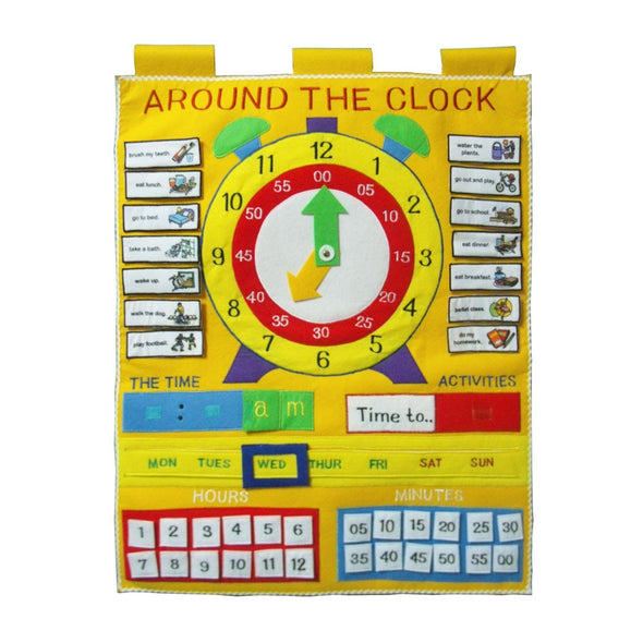 Around the Clock Chart, Learn & Expore, Dyles, Little Toy Lane - Little Toy Lane