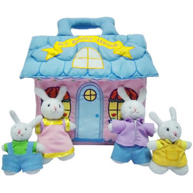 Bunny House, Cloth Books, Dyles, Little Toy Lane - Little Toy Lane