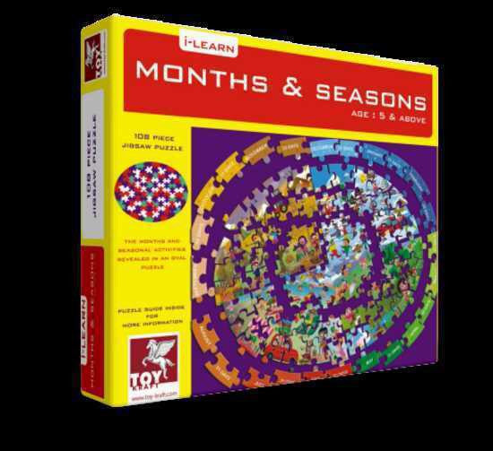 Months and Seasons - puzzle, , Little Toy Lane, Little Toy Lane - Little Toy Lane