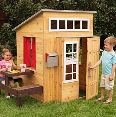 Modern Outdoor Playhouse, , KidKraft, Little Toy Lane - Little Toy Lane