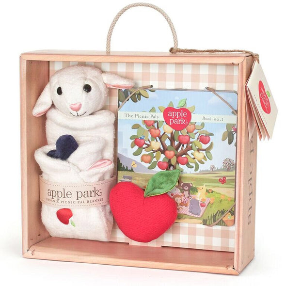 Apple Park Lamby gift crate, Baby Gift packs, Apple Park, Little Toy Lane - Little Toy Lane