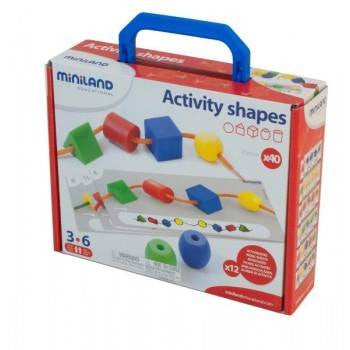 Miniland aptitude activity shapes 70pcs, Learn & Explore, Miniland, Little Toy Lane - Little Toy Lane