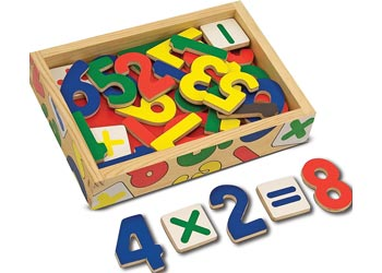 Melissa & Doug - Wooden Magnetic numbers, , Melissa & Doug, Little Toy Lane - Little Toy Lane
