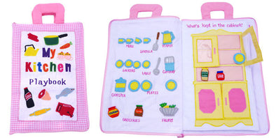 Kitchen Playbook, Cloth Books, Dyles, Little Toy Lane - Little Toy Lane