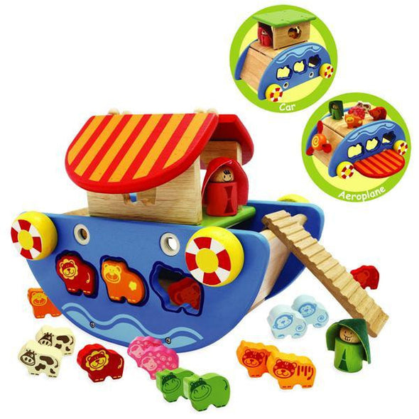 Noah'S 3 In 1 Ark, Learn & Explore, Artiwood, Little Toy Lane - Little Toy Lane