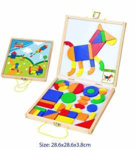 Build a Pic With Magnetic Shapes in Carry Case, Learn & Explore, Fun Factory, Little Toy Lane - Little Toy Lane