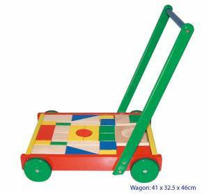 Wagon with Blocks, Build it, La Belle Toys, Little Toy Lane - Little Toy Lane