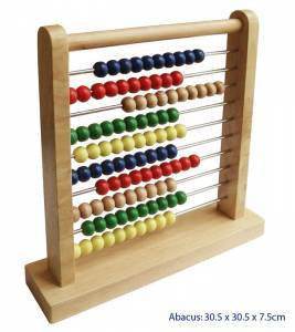 Abacus with metal bars, Learn & Explore, Fun Factory, Little Toy Lane - Little Toy Lane