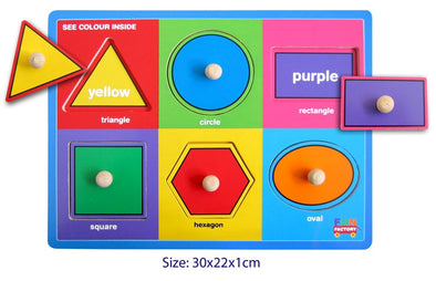 Shape peg puzzle with colours, , Fun Factory, Little Toy Lane - Little Toy Lane