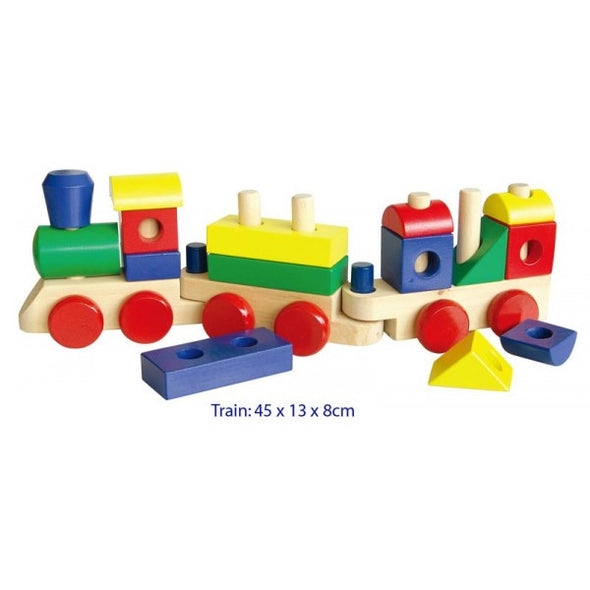 Stacking train with Blocks, Build it, La Belle Toys, Little Toy Lane - Little Toy Lane