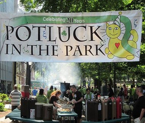 FIXING BROKEN LUCK WITH POTLUCK IN THE PARK