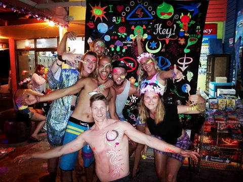 full moon party body paint