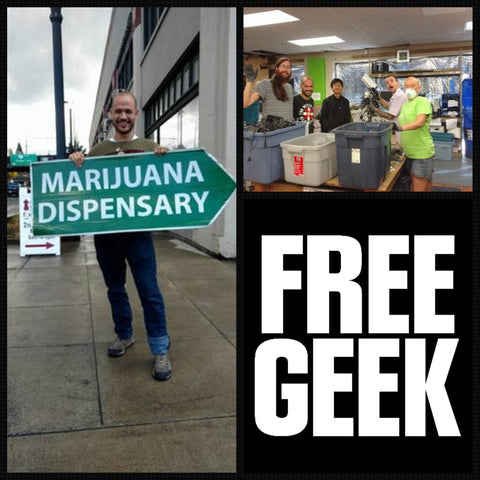 Volunteering at free geek