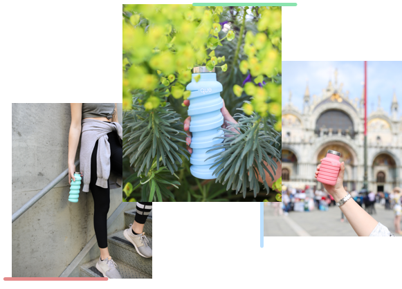 que collapsible water bottle. Travel, outdoor, fitness