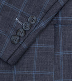Kuroki Charcoal Windowpane Suit