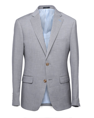 Yojiro Two Tone Textured Grey Suit
