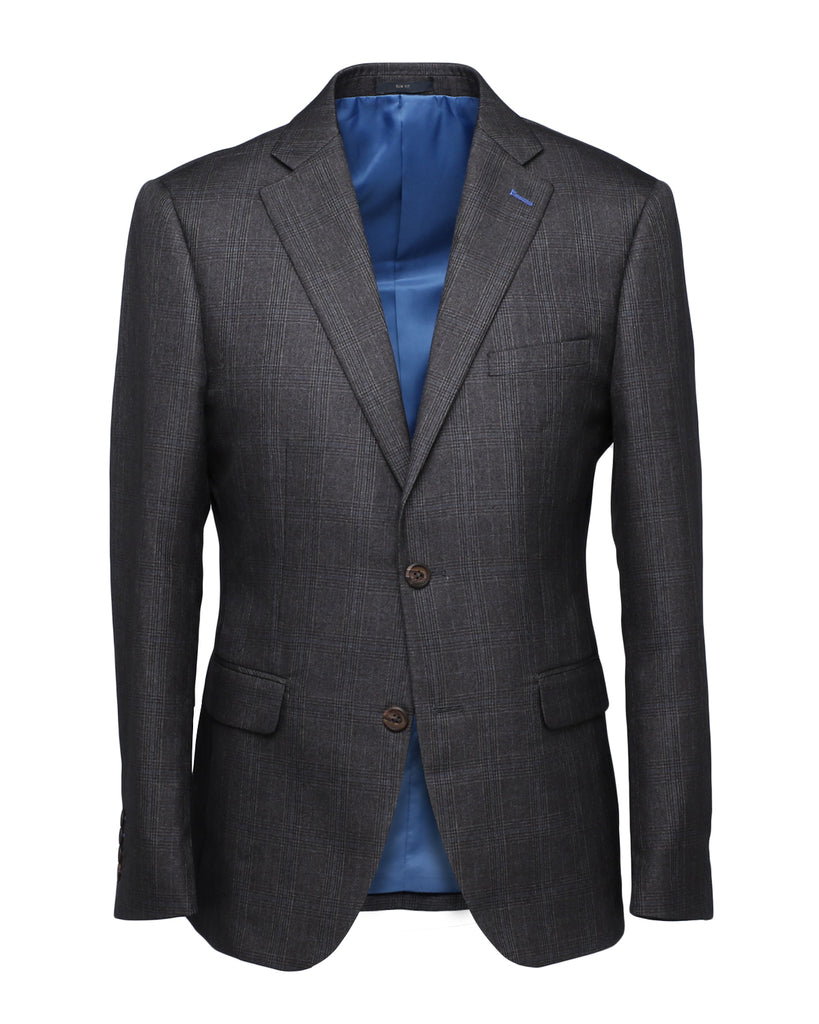 Sanzai Grey Glen Plaid Suit
