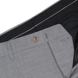 Yojiro Two Tone Textured Grey Suit Pants