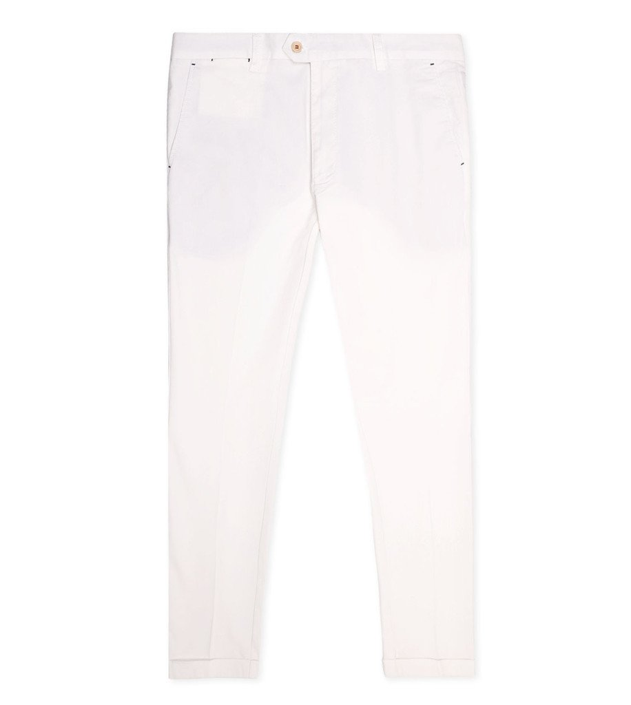 MEN CHINOS - Cropped Chinos Cream