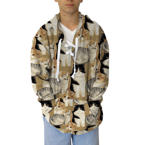 Cat Colllage Adult Hooded Top