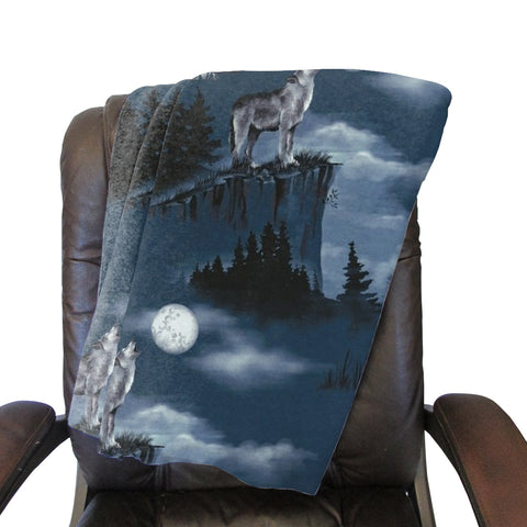Howling Wolves Blanket - Double Sided
