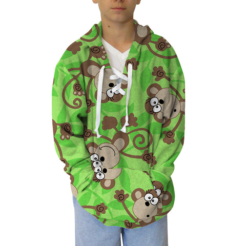 Monkey Bussiness  Adult Hooded Top