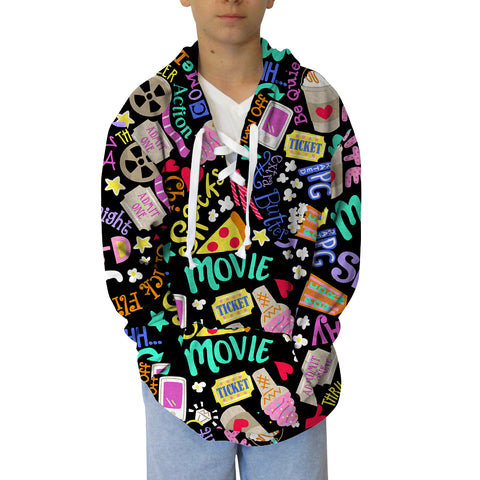Movie Night Adult Hooded Top
