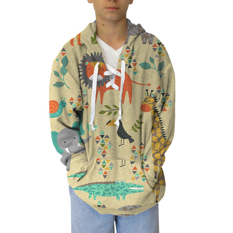 Safari Party Adult Hooded Top