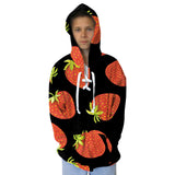 Straw Berry Fun Adult Hooded Top