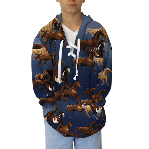 Wild Horse Adult Hooded Top