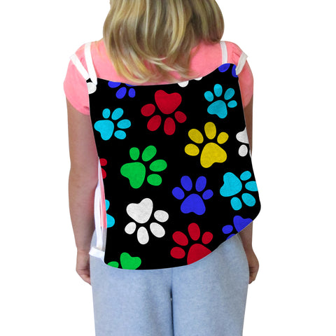 Multi Color Paws Back Sack