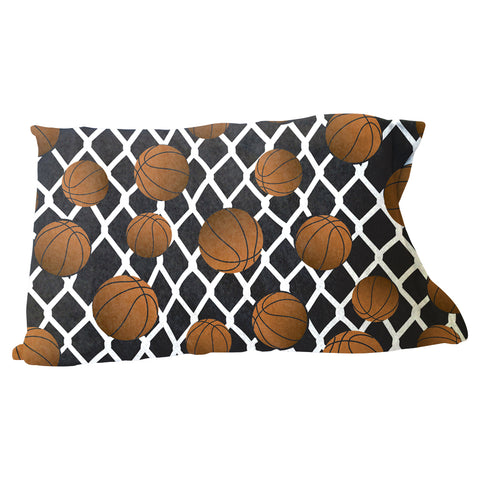 Black Basketball Pillow Case