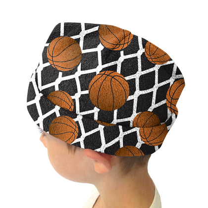 Black Basketball Youth and Adult Hat