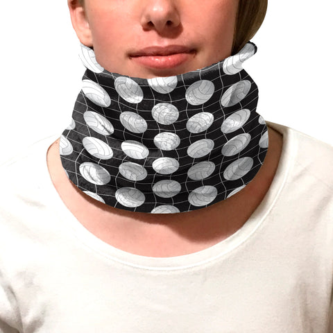 Black Volleyball Youth and Adult Neck Warmer
