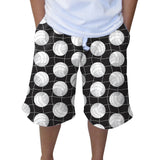 Black Volleyball Adult Knee Length Short