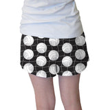 Black Volleyball Womens Short Short