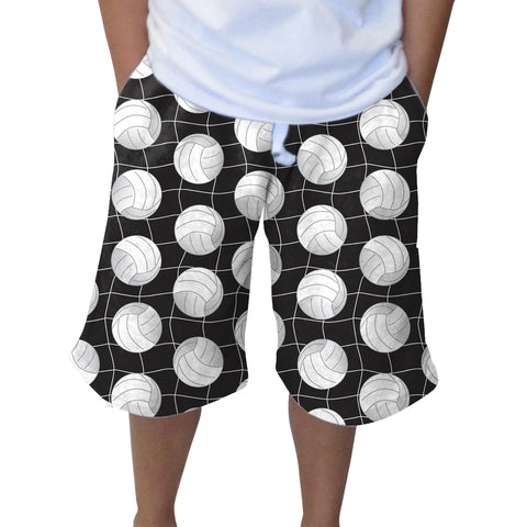 Black Volleyball Youth Knee Length Short