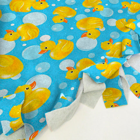 Bubble Ducks Blanket Tie Kit