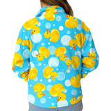 Bubble Ducks Adult Collared Top